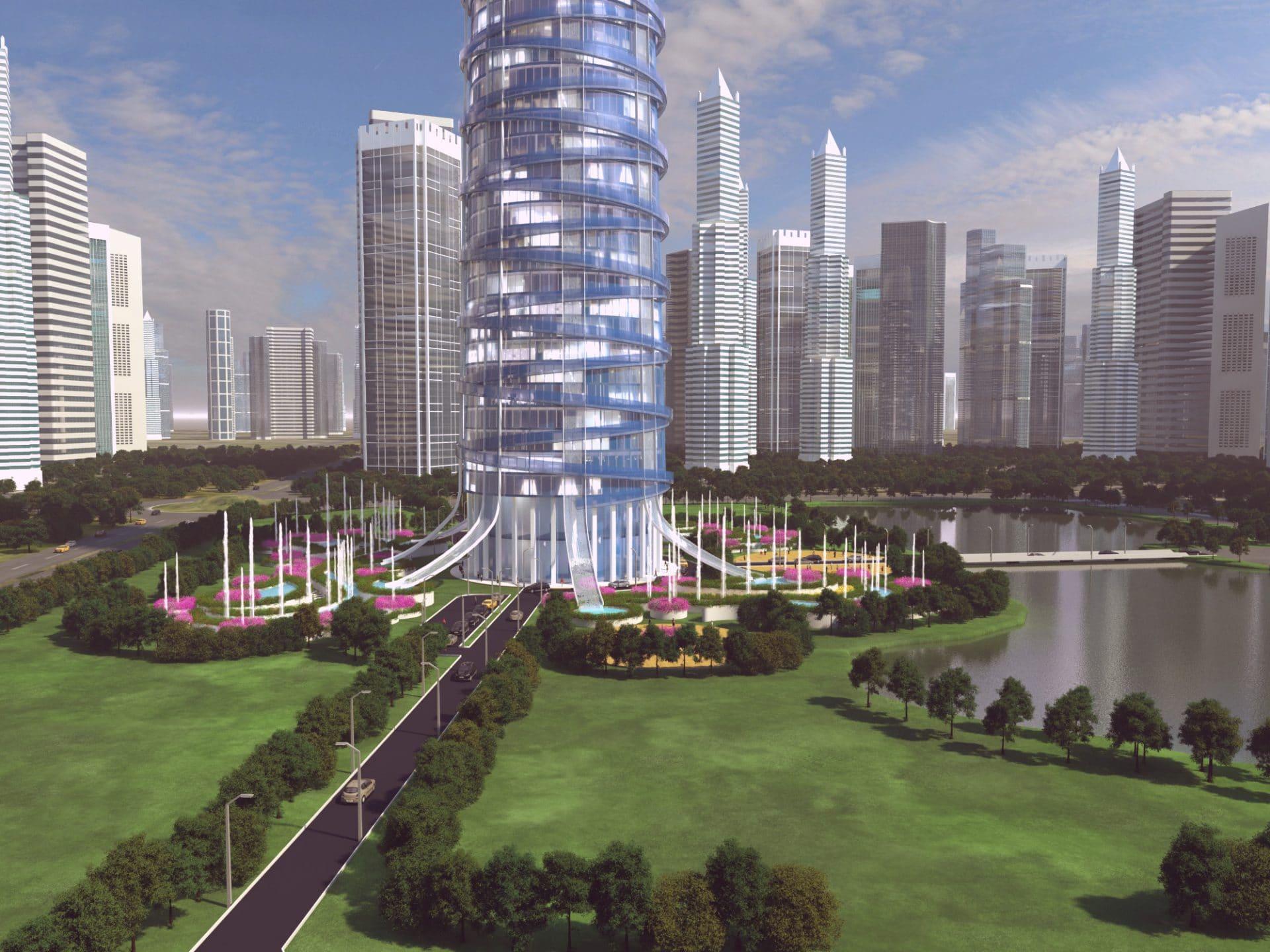Skyscraper hotel concept dd3d studio for Hotel concept