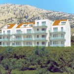 3D Apartment building view from distance