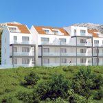 3D Apartment building front view