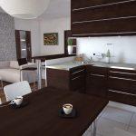 3D Apartment building inside view