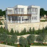 3D Apartment complex side view