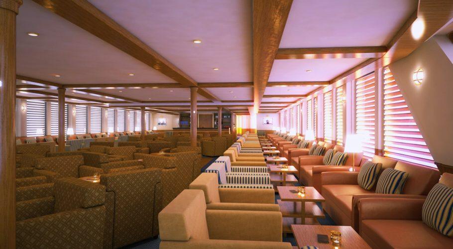 Ship interior 3D rendering