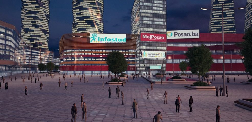 MojPosao buildings 3D