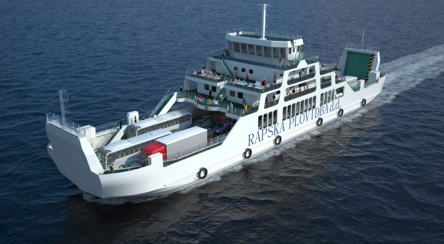 Ferry 3D view from behind