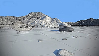 Helicopter land 3D