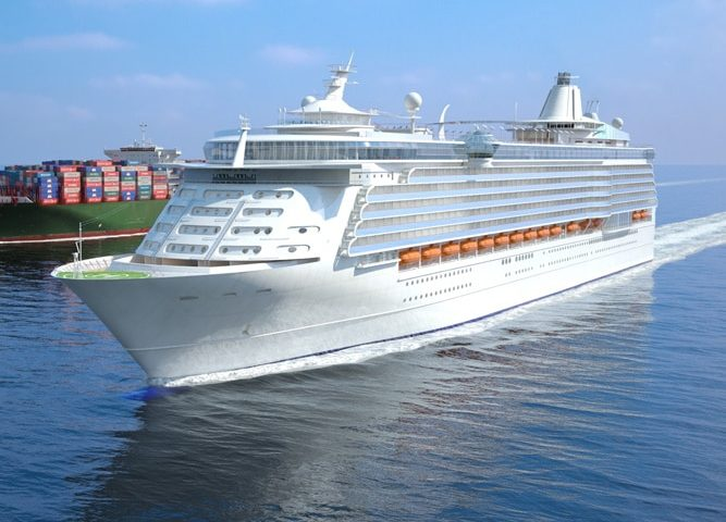 3D Cruise ship air lubrication
