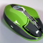 Logitech mouse concept 3D visualization