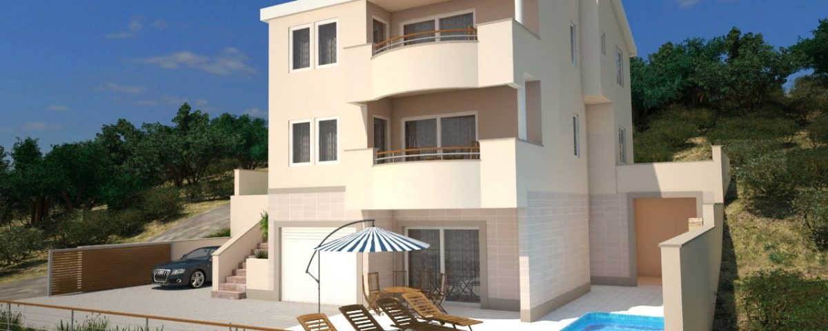 3D adriatic apartment block