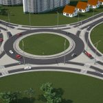 3D Roundabout view from above