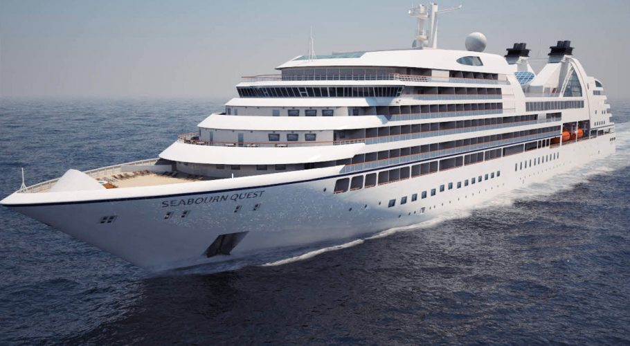 Cruise ship 3D front view