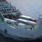 Ferry 3D front view