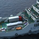 Ferry 3D view from above