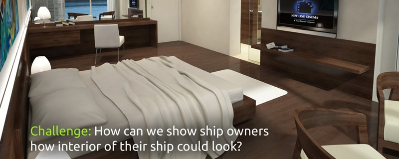 3D ship interior