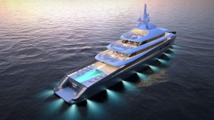 Kubo Plus yacht 3D night view