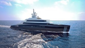 3D Kubo Plus yacht side view