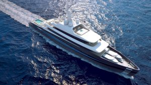 3D Kubo Plus yacht view from above
