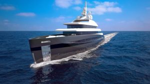 3D Kubo Plus yacht front view