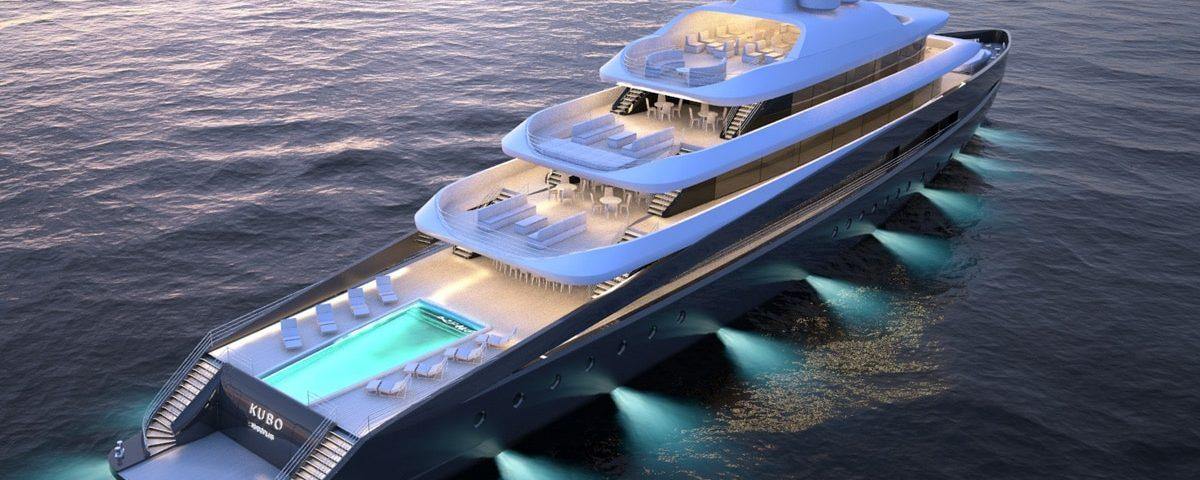 Kubo Plus yacht 3D night view